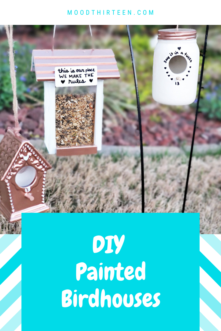 Lyrics-Inspired Painted Birdhouses