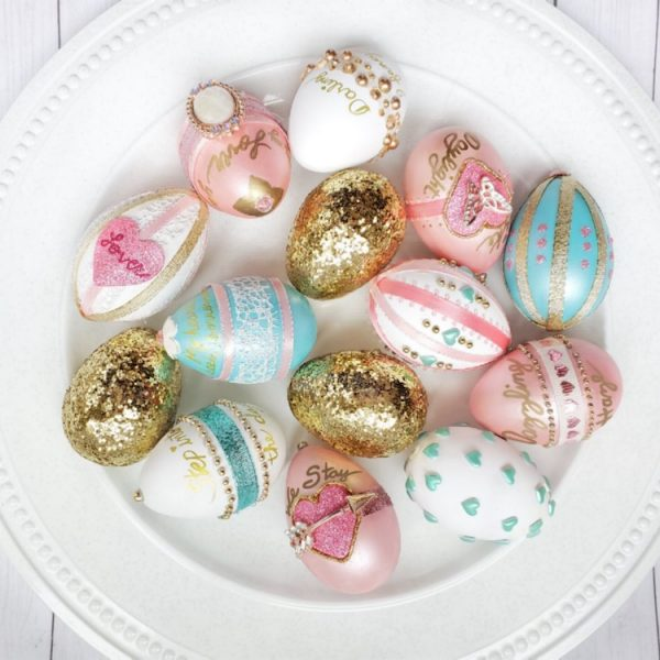elegantly decorated Lover era easter eggs, Mood 13 Magazine April 2020