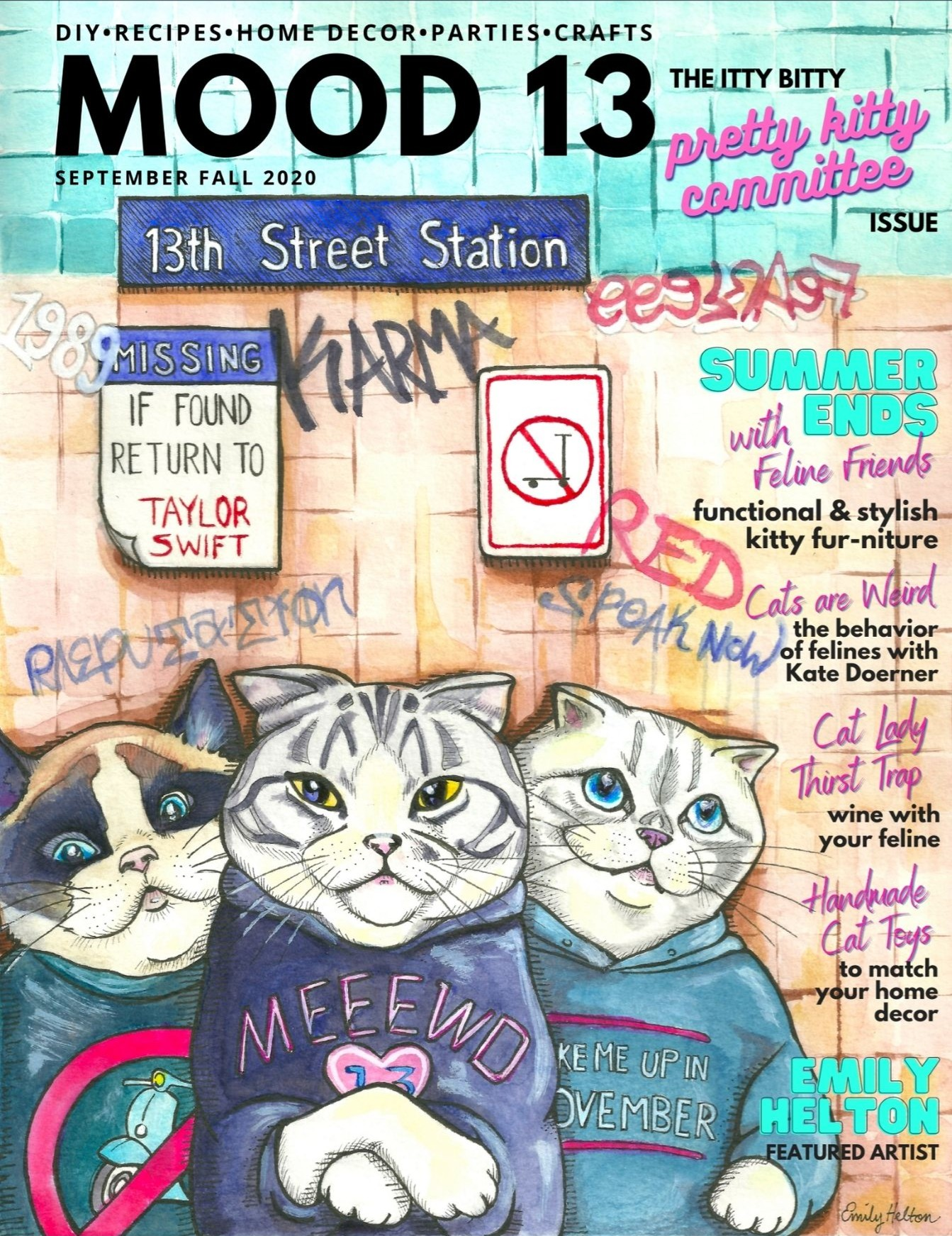 Itty Bitty Pretty Kitty Issue September 2020